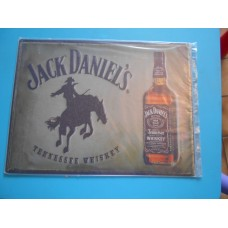 metalen plaat - bord /  metal sign / plaque metal   32 x 40 cm jack daniels