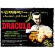 metalen plaat - bord /  metal sign / plaque metal   32 x 40 cm  dracula