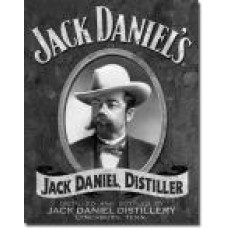 metalen plaat - bord /  metal sign / plaque metal   32 x 40 cm jack daniels portrait