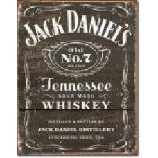metalen plaat - bord /  metal sign / plaque metal   32 x 40 cm jack daniels old